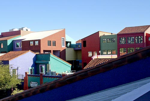 Colors abound in Downtown Tucsons La Placita.