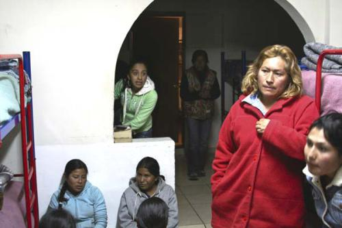 Migrants shelter Nogales, Sonora, Mexico.