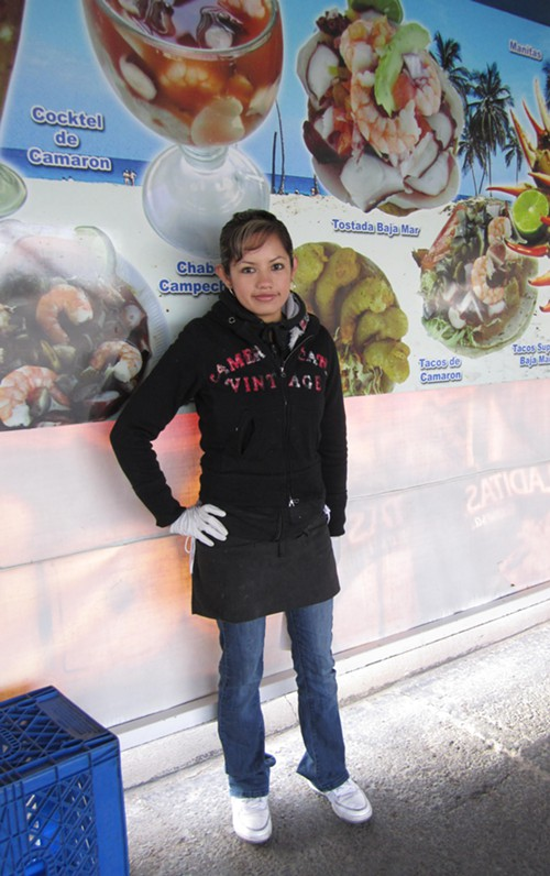 Perla Morales says seafood is the breakfast of real champions.
