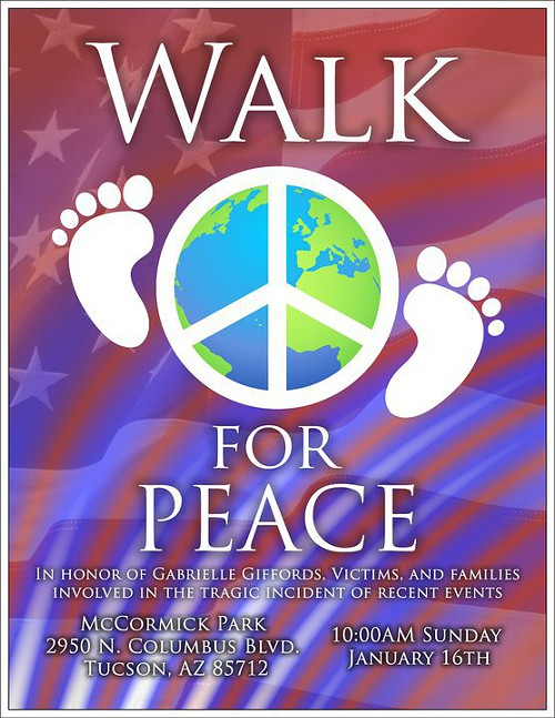 Walk for Peace, 10 a.m., Sunday, Jan. 16