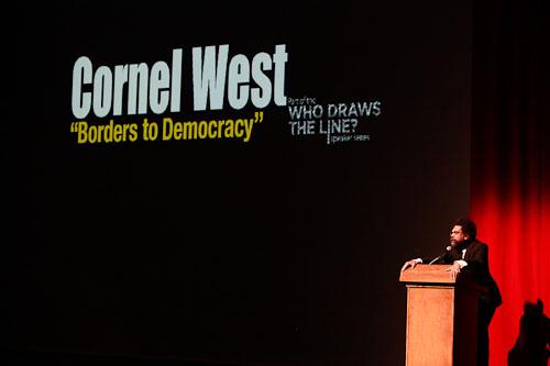 West spoke for 60 minutes, energizing a diverse crowd. Photograph by John de DIos © 2011