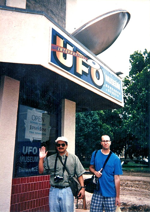 We wanted to believe: Hector Acuña and Tim Archibald on the hunt for evidence.