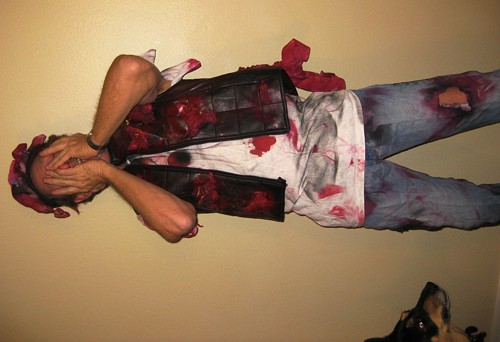 Roadkill makes for an easy, last-minute costume.