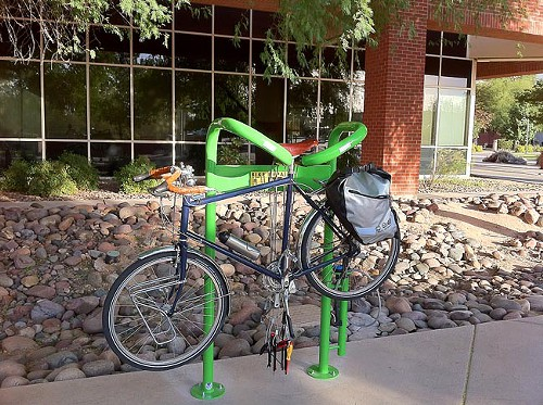 The UA adds a free bicycle repair station.